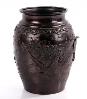antike Bronze Vase Asia 20cm hoch