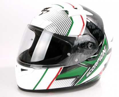 Scorpion Exo 710 Air Crystal Helm (White/Green/Red,M (57/58))