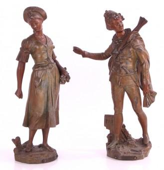 antikes Paar Beisteller Figur ca. 1890 Par Lavergna Paris