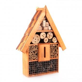 Insektenhotel Insektenhaus aus Erlenholz mit Dachschindel D70