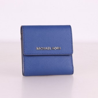 MICHAEL KORS Geldbörse Portemonnaie Wallet JET SET TRAVEL cobalt 35F8STVD1L