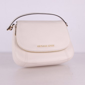 MICHAEL KORS Bedford Medium Flap XBody Leder Handtasche Damen Vanilla 35T9GBFL2L