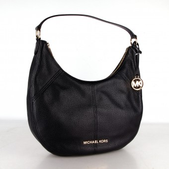 MICHAEL KORS Bedford Crescent Leder Schulter Handtasche Damen schwarz 35T9GBFL3L
