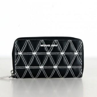 Michael Kors Portmonnaie Geldbörse Wallet mit Handyfach schwarz/weiß 32S9SFDE3Y
