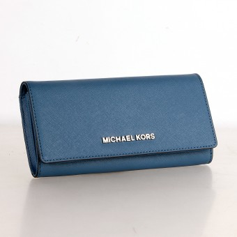 MICHAEL KORS Geldbörse Portemonnaie Wallet JET SET TRAVEL navy 35S7SYAE3L