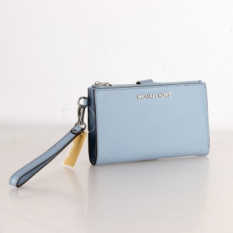 MICHAEL KORS Geldbörse Portemonnaie Wallet JET SET TRAVEL powder blue 35F8STVW0L