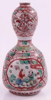 Antike Ming / Qing Dynastie Vase Asien Handbemalt Signiert 17/18. Jahrhundert