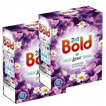 2er Bold Lenor 2in1 Waschmittel Voll Waschmittel LAVENDEL für 130 Wäschen