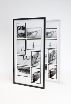 Holz Collage Bilderrahmen Bildergalerie 8 Bilder 10x15 cm Set Fotorahmen