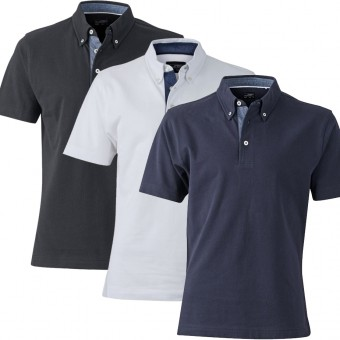 J&N James & Nicholson hochwertiges Polo Hemd JN 964 Poloshirt Herren S - 3XL