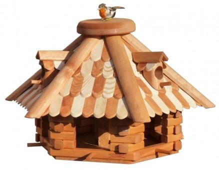 hochwertiger Nistkaste Vogelhäuschen Vogelhäuser K5B Holz Vogelfutterhaus KIEFER