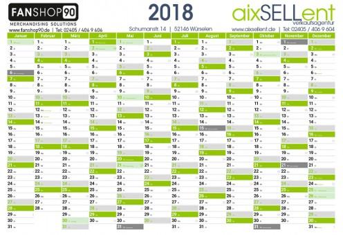 2018 DIN A1 Wandkalender Jahresplaner Kalender Wandplaner 84x59,4cm