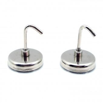 Magnethaken 2 Stück Ø 34 mm