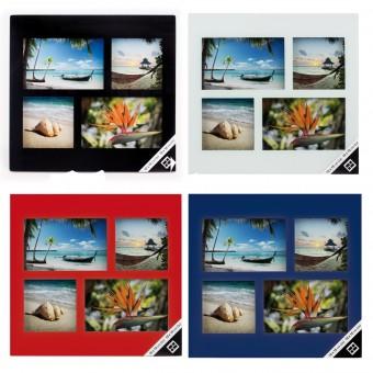 Glas Collage Bilderrahmen 10x10 cm 10x15 cm 4 Bilder Set Aufhänger &  Aufsteller