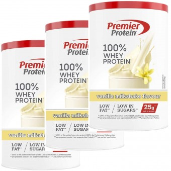 Premier Protein 100% Whey Vanille Milch Shake 3x315g - High Protein Pulver