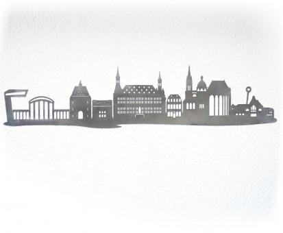 Skyline Aachen Wandtattoo Edelstahl VA Geschenk Wand Deko 120cm breit