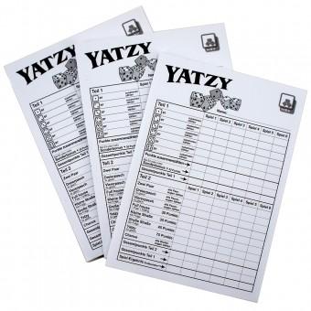 YATZY Kniffel 3er Spielblock Blöcke je 40 Blatt Würfelspiel für 720 Spiele
