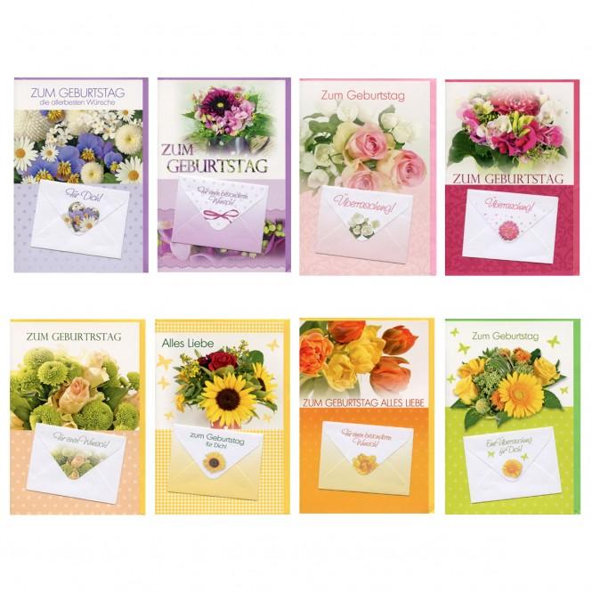 50 Geburtstagskarten Mit Geldbrief Glückwunschkarte Geburtstag Karten Set