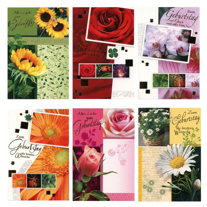 50 Geburtstagskarten Glückwunschkarte Geburtstag Karten Set