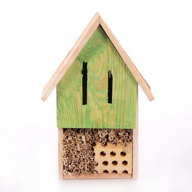 Aixstore Hochwertiges Insektenhotel Insektenhaus Holz Grun