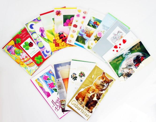 900 Glückwunschkarten Geschenkkarten Geburtstag Klappkarten Inkl. Umschläge
