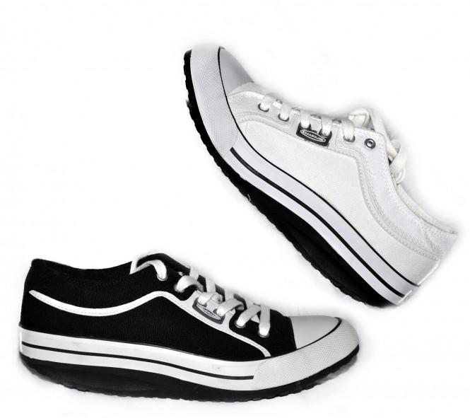 WALKMAXX Freizeitschuhe Sneaker Canvas Sportschuh weiß Gr
